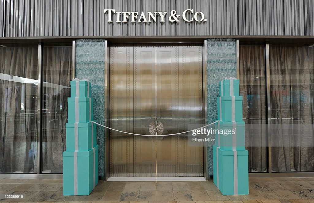 A general view of the outside of the Tiffany Co store at the Fashion Show mall during the store's grand opening September 1 2011 in Las Vegas Nevada