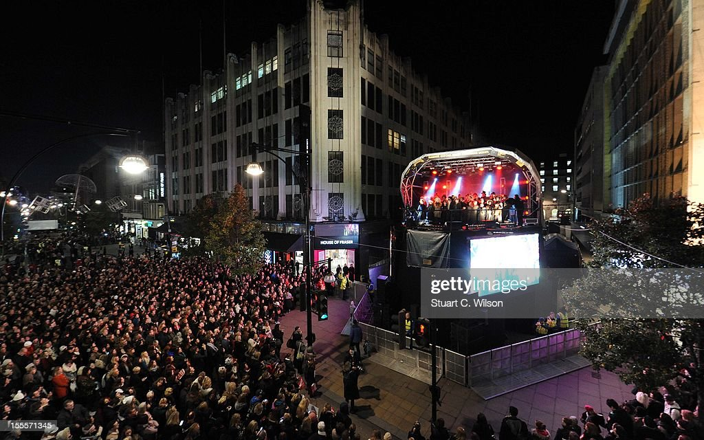 General View of the Oxford Street Christmas Lights switching on ceremony on November 5, 2012 in London, England.