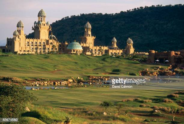 General view of the palace and clubhouse taken during a photoshoot held in 1997 at the Lost City Golf Club in Sun City South Africa