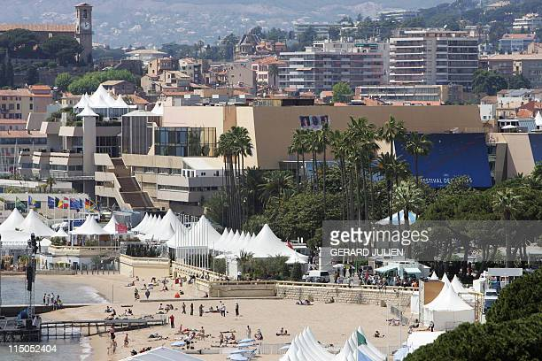 General view of the palace festival on the eve of the start of the 58th edition of the Cannes Film Festival 10 May 2005 The 2005 Cannes film festival...