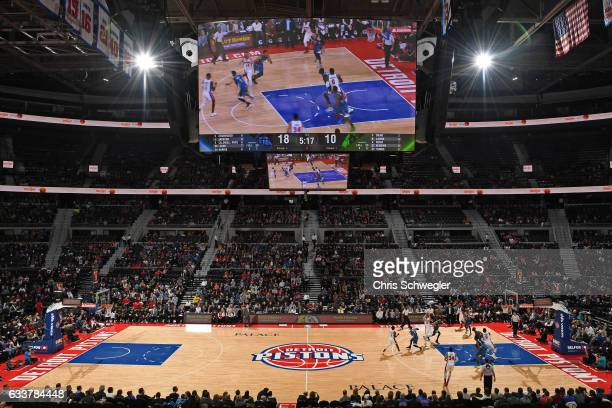 A general view of The Palace of Auburn Hills during the Minnesota Timberwolves game against the Detroit Pistons in Auburn Hills Michigan on February...