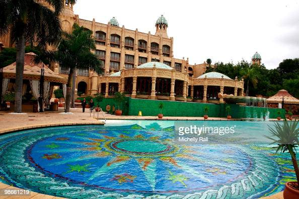 A general view of the Palace of the Lost City Hotel within the Sun City Resort which is rumoured to be the base of the England team's WAGS during the...
