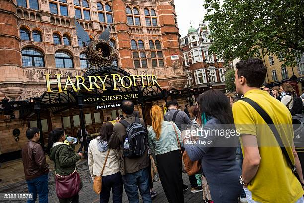 A general view of The Palace Theatre following the first preview of the Harry Potter and The Cursed Child play last night on June 8 2016 in London...