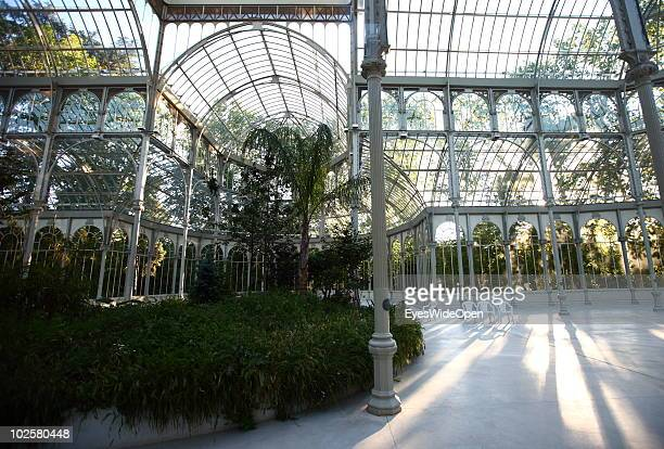 A general view of The Palacio de Cristal called Crystal Palace or Glass Palace in the famous Parque Del Retiro in Madrid on May 20 2010 in Madrid...