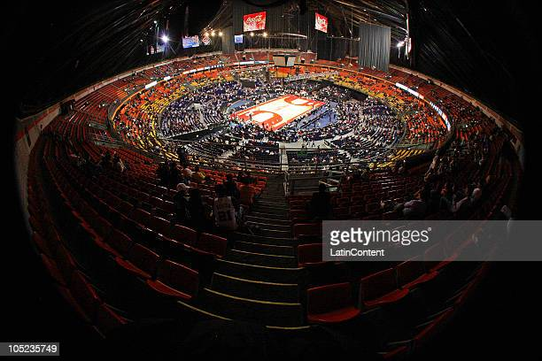 General view of the Palacio de los Deportes before the preseason game between San Antonio Spurs v Los Angeles Clippers on October 12 2010 Mexico City...