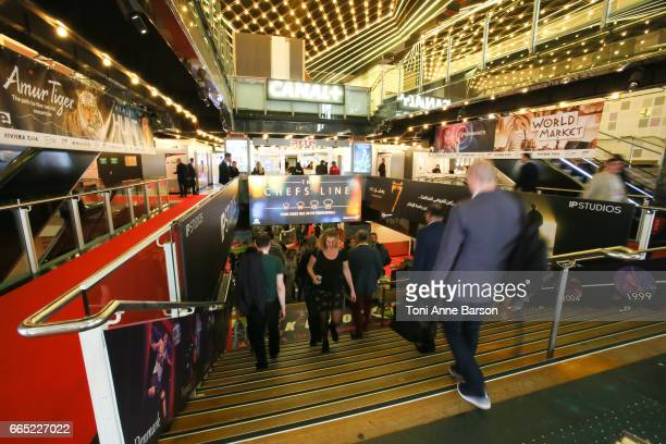 General view of the Palais des Festivals during MIPTV 2017 on April 5 2017 in Cannes France