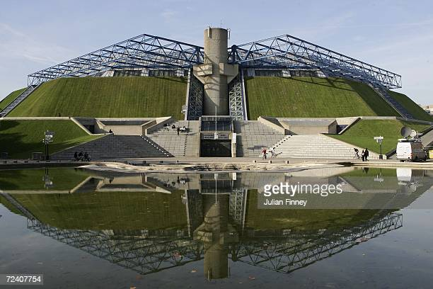 A general view of the Palais Omnisports ParisBercy Arena taken before the semi finals during day six of the BNP Paribas ATP Tennis Masters Series on...