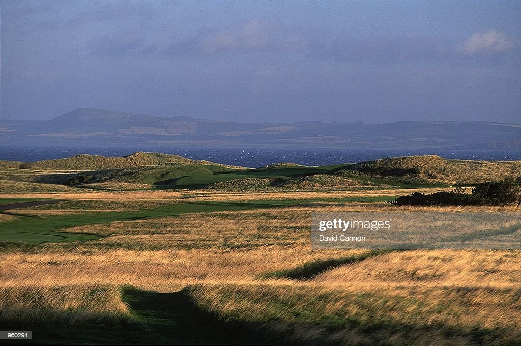 General view of the Par 3 13th hole at the Muirfield Golf and Country Club in Edinburgh Scotland Mandatory Credit David Cannon /Allsport