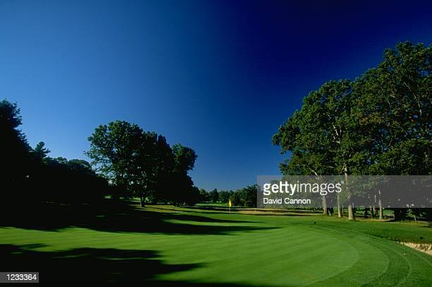 General view of the par 3 16th hole at The Country Club in Brookline Massachusetts Mandatory Credit David Cannon /Allsport