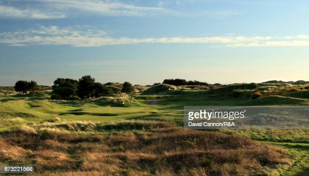 A general view of the par 3 seventh hole at Royal Birkdale Golf Club the host course for the 2017 Open Championship on April 24 2017 in Southport...