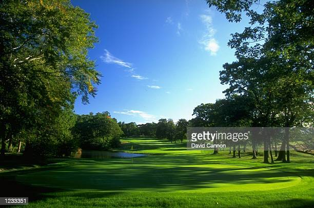 General view of the par 4 13th hole at The Country Club in Brookline Massachusetts Mandatory Credit David Cannon /Allsport