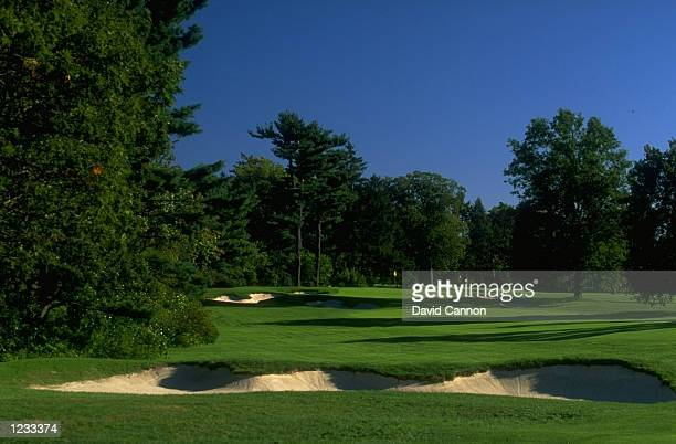 General view of the par 4 17th hole at The Country Club in Brookline Massachusetts Mandatory Credit David Cannon /Allsport