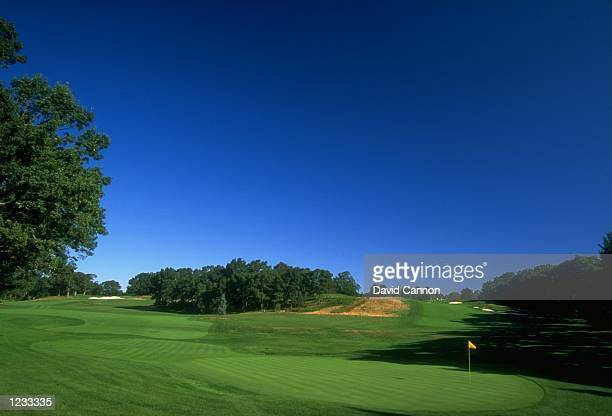 General view of the par 4 5th hole at The Country Club in Brookline Massachusetts Mandatory Credit David Cannon /Allsport
