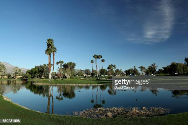 A general view of the par 4 sixth hole during the proam as a preview for the 2017 ANA Inspiration held on the Dinah Shore Tournament Course at the...