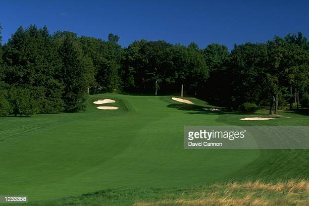 General view of the par 5 14th hole at The Country Club in Brookline Massachusetts Mandatory Credit David Cannon /Allsport