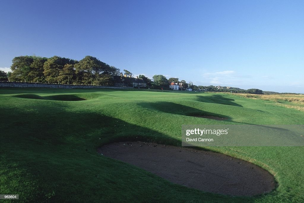 General view of the Par 5 9th hole at the Muirfield Golf and Country Club at Gullane in Edinburgh Scotland Mandatory Credit David Cannon /Allsport