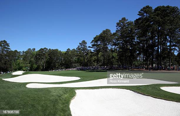 A general view of the par four 3rd hole during the third round of the 2013 Masters at the Augusta National Golf Club on April 13 2013 in Augusta...