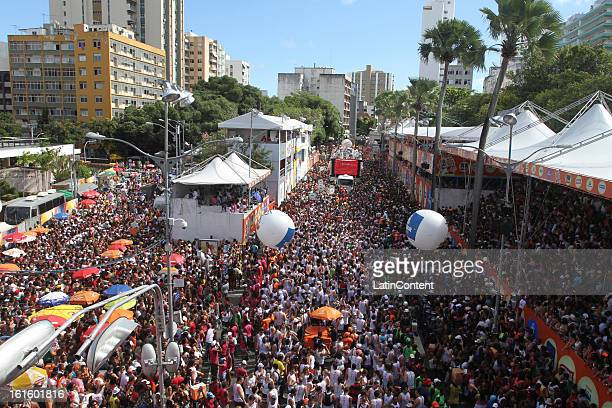 General view of the Parade Block at Circuit Campo Grande in Carnival on February 12 2013 in Salvador Brazil