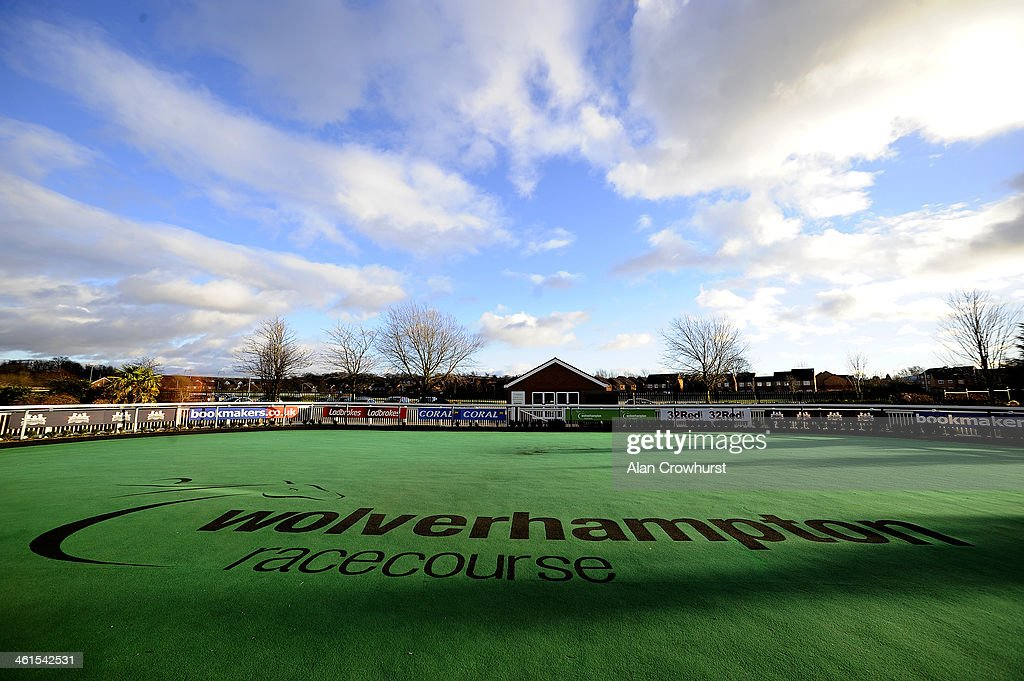 A general view of the parade ring at Wolverhampton racecourse on January 09 2014 in Wolverhampton England