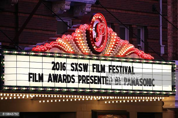 A general view of the Paramount Theatre at the SXSW Film Awards Presented by Panasonic during 2016 SXSW Music Film Interactive Festival at Paramount...
