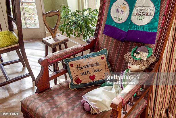A general view of the Parlour in the Pankhurst Centre former home of Emmeline Pankhurst and where the Suffragette movement began on October 8 2015 in...