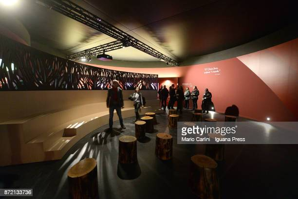 general view of the pavilion ' Man and the Fire ' at FICO as shown on the press preview at CAAB FICO Agro Food Center on November 9 2017 in Bologna...