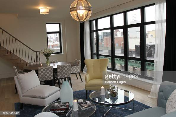 A general view of the Penthouse at 199 Mott during Gallery 151 special preview of 'Nolita Three Decades' at 199 Mott on April 14 2015 in New York City