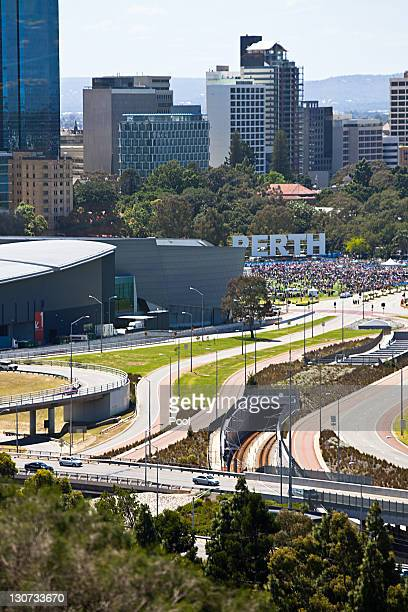 A general view of the Perth skyline during the CHOGM retreat on day two at the Commonwealth Heads of Government Meeting on October 29 2011 in Perth...