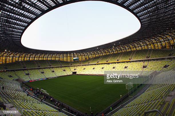 General view of the PGE Arena before a Germany training session ahead of their friendly match against Poland on September 5 2011 in Gdansk Poland