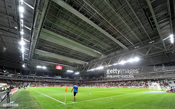 General view of the Pierre Mauroy stadium taken prior to the French L1 football match Lille vs Metz on August 9 2014 in Villeneuved'Ascq AFP PHOTO /...