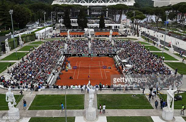 A general view of the Pietrangeli court during day four of the The Internazionali BNL d'Italia 2016 on May 11 2016 in Rome Italy