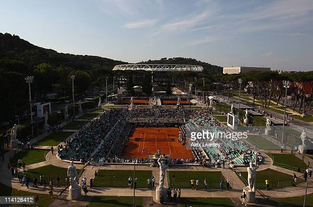 A general view of the Pietrangeli Court is seen during day five of the Internazionali BNL d'Italia at the Foro Italico Tennis Centre on May 12 2011...