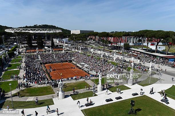 General view of the Pietrangeli court on Day Three of The Internazionali BNL d'Italia 2015 at the Foro Italico on May 12 2015 in Rome Italy