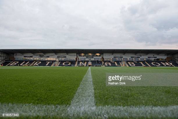 General view of the Pirelli Stadium before the Sky Bet Championship match between Burton Albion and Birmingham City on October 21 2016 in...