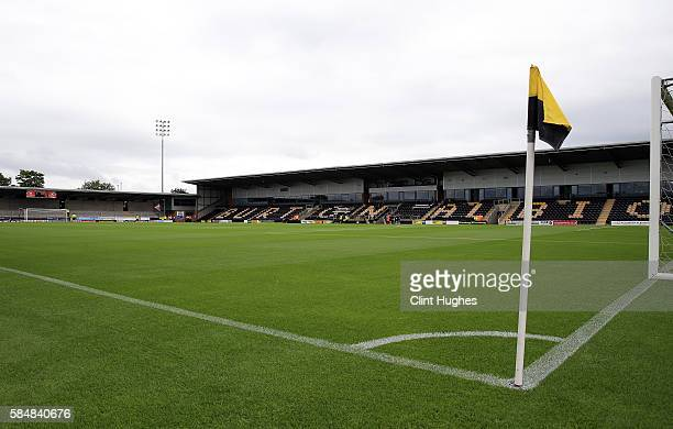 A general view of the Pirelli Stadium during the Pre Season Friendly match between Burton Albion and Stoke City at the Pirelli Stadium on July 16...
