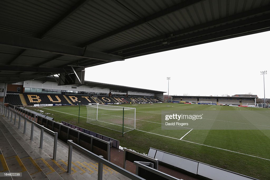 A general view of the Pirelli Stadium during the UEFA European Under 17 Championship match between England and Slovenia at Pirelli Stadium on March 28, 2013 in Burton-upon-Trent, England.