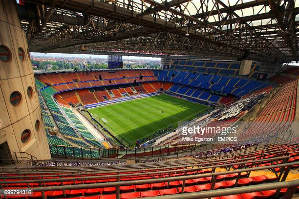 General view of the pitch at San Siro