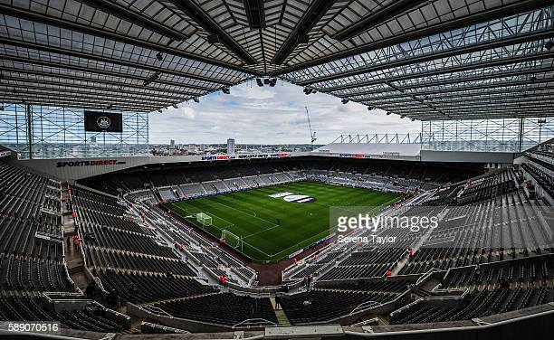 A general view of the pitch at StJames' Park prior to the Sky Bet Championship match between Newcastle United and Huddersfield Town at StJames Park...