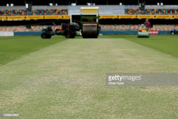 General view of the pitch during an Australian training session at The Gabba on November 7 2012 in Brisbane Australia