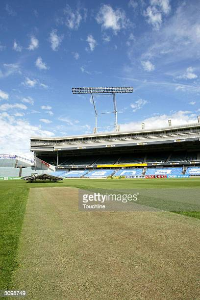A general view of the pitch for the 2nd test between South Africa and New Zealand on March 16 2004 at Eden Park in Auckland New Zealand