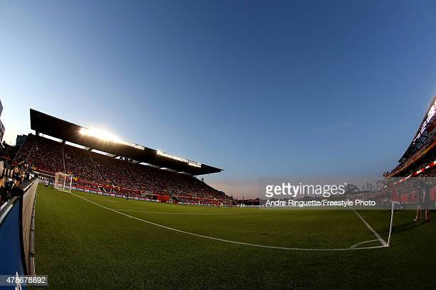 A general view of the pitch in the second half between China and the United States in the FIFA Women's World Cup 2015 Quarter Final match at...