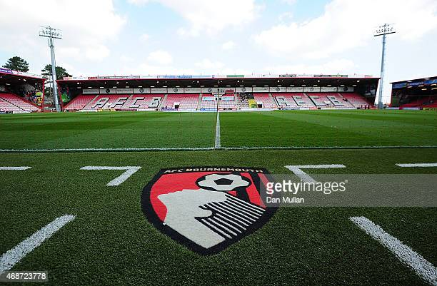 A general view of the pitch prior to the Sky Bet Championship match between AFC Bournemouth and Birmingham City at Goldsands Stadium on April 6 2015...
