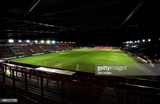 A general view of the pitch prior to the Sky Bet League Two match between Exeter City and Cambridge United at St James Park on February 10 2015 in...