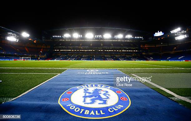 A general view of the pitch prior to the UEFA Champions League Group G match between Chelsea FC and FC Porto at Stamford Bridge on December 9 2015 in...