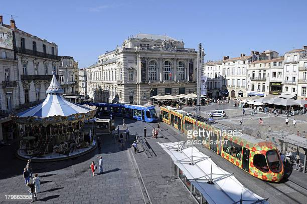 General view of the Place de la Comedie taken on September 6 2013 in Montpellier AFP PHOTO / PASCAL GUYOT