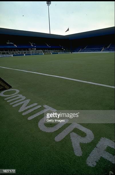 General view of the plastic Omniturf pitch at Queen Park Rangers Football Club at Loftus Road in London Mandatory Credit Allsport UK /Allsport