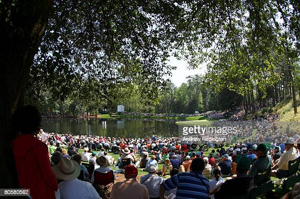 A general view of the play during the Par 3 Contest prior to the start of the 2008 Masters Tournament at Augusta National Golf Club on April 9 2008...