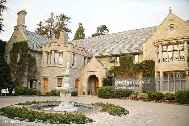A general view of the Playboy Mansion at 'The Transporter Refueled' Los Angeles screening held at The Playboy Mansion on August 25 2015 in Los...