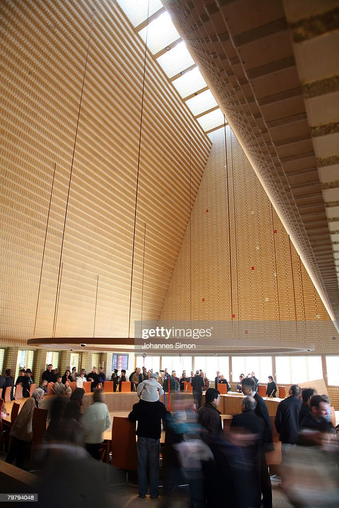 General view of the plenary hall of the newly erected Liechtenstein Parliamentary Building, seen during a general opening to the public on February 16, 2008 in Vaduz, Liechtenstein. The building complex, situated in the inner city of Liechtenstein was designed by German architect Hansjoerg Goeritz