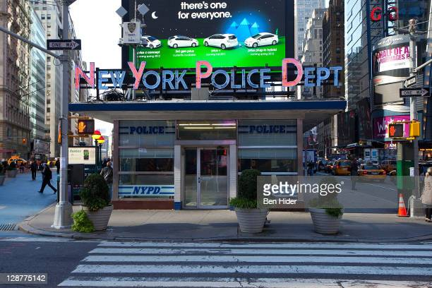 A general view of the Police Station in Times Sqaure on October 7 2011 in New York City